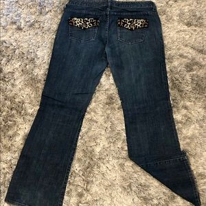 Dark denim bootcut jean
